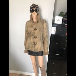 All real leather - fur jacket XS like new!